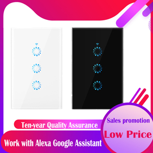 Image 1 - Wifi Touch Switch 1/2/3 Gang Samrt Switch Panel Wireless Intelligence Timing&Remote Control APP Work with Alexa Google Home