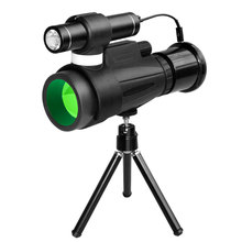 Profesional Telescope infrared night vision monocular 12×50 HD BAK4 optical spyglass monocle for outdoor hunting spotting scope