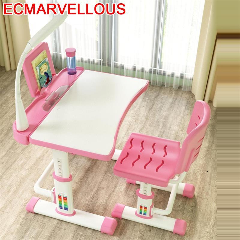 Tavolino Bambini Y Silla Infantil Mesa De Estudo And Chair Avec Chaise Children Adjustable Kinder Enfant For Kids Study Table