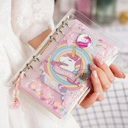 JIANWU 2019 nowy jednorożec śliczny notatnik dziewczyna różowy segregator zestaw kreatywny wielofunkcyjny pamiętnik kawaii Journal
