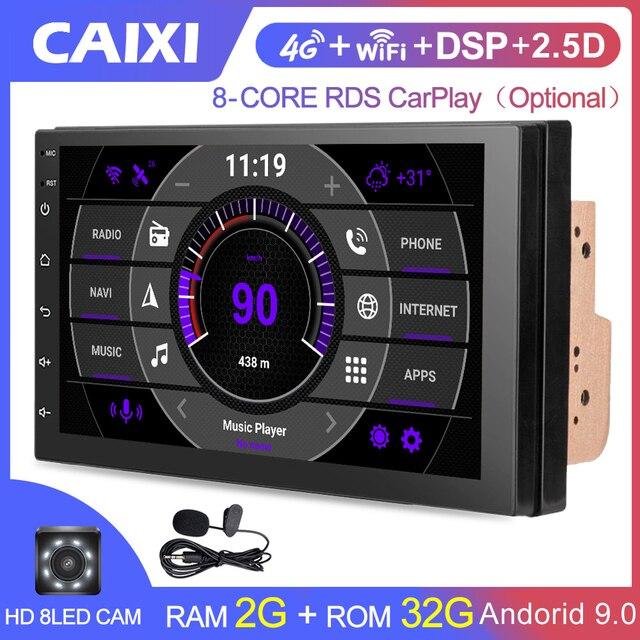 2 Din Android 9.0 Autoradio RDS audio Mp3 Car Radio Multimedia Video Players For Nissan VW TOYOTA Honda KIA Hyundai  mazda Ford