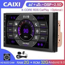 2 Din Android 9.0Car Радио мультимедийный плеер для Nissan Volkswagen TOYOTA Honda KIA Hyundai mazda Универсальный Авто Стерео GPS карта