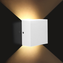 6W dimmable 110V 220V LED Aluminium wall light rail project Square LED lamp bedside room bedroom lighting
