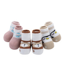3 Pairs Infant Autumn Winter Warm Socks Non-Skid Thicken Cotton Baby Socks 0 To 3 Year(China)