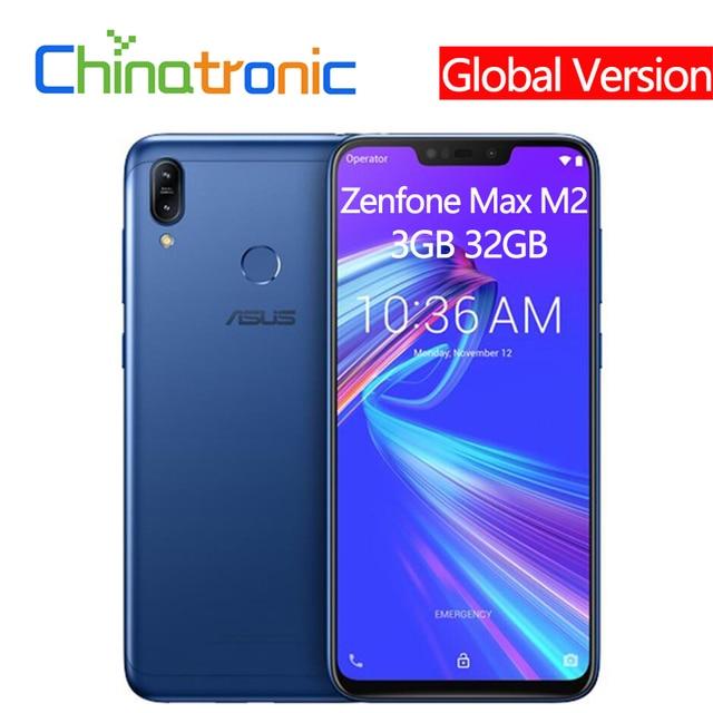 "Original Asus Zenfone Max M2 ZB633KL 4G LTE 6.3""Mobile Phone Snapdragon Octa-core Dual Camera Fingerprint 4000mAh Global Version"