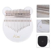 Kimi – Kalimba à 17 touches, Piano à pouce en acrylique coloré, Mbira Sanza avec sac à marteau pour accordeur, clavier à doigts, Instrument de musique