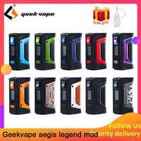 Vape kit GeekVape auspicios mod auspicios leyenda 200W TC caja MOD alimentado por Dual 18650 e cigs No batería zeus rta blitzen