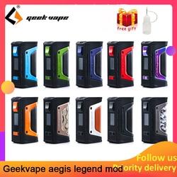 vape kit GeekVape Aegis mod aegis Legend 200W TC Box MOD Powered by Dual 18650 batteries e cigs No Battery for zeus rta blitzen