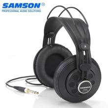 100% oryginalny Samson Sr850 profesjonalny Monitor zestaw słuchawkowy szeroki dynamiczny pół open back Studio odniesienia słuchawki dla muzyk DJ