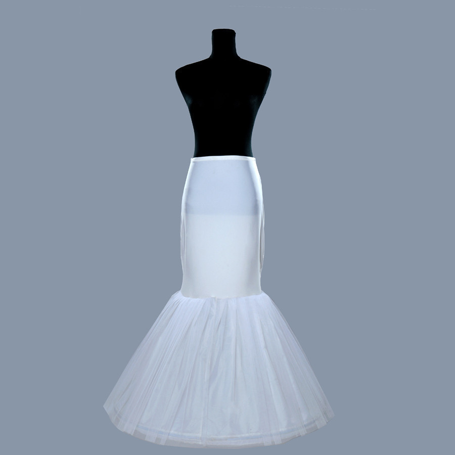 Cheap Mermaid Slim Petticoats Bridal Wedding Gowns White Underskirt For Bridal Accessories Crinoline For Bridal Accessories