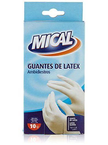 Mical - Guantes De Latex - Ambidiestros - 10 Unidades