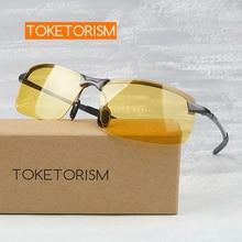 Toketorism антибликовые желтые очки ночного видения для вождения автомобиля мужские и женские солнцезащитные очки Y3043