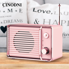 Audio Mobile Phone Portable Rechargeable Mini Retro Bluetooth Speaker Radio Cute Outdoor Mini Speakers Travel Music Player DW01