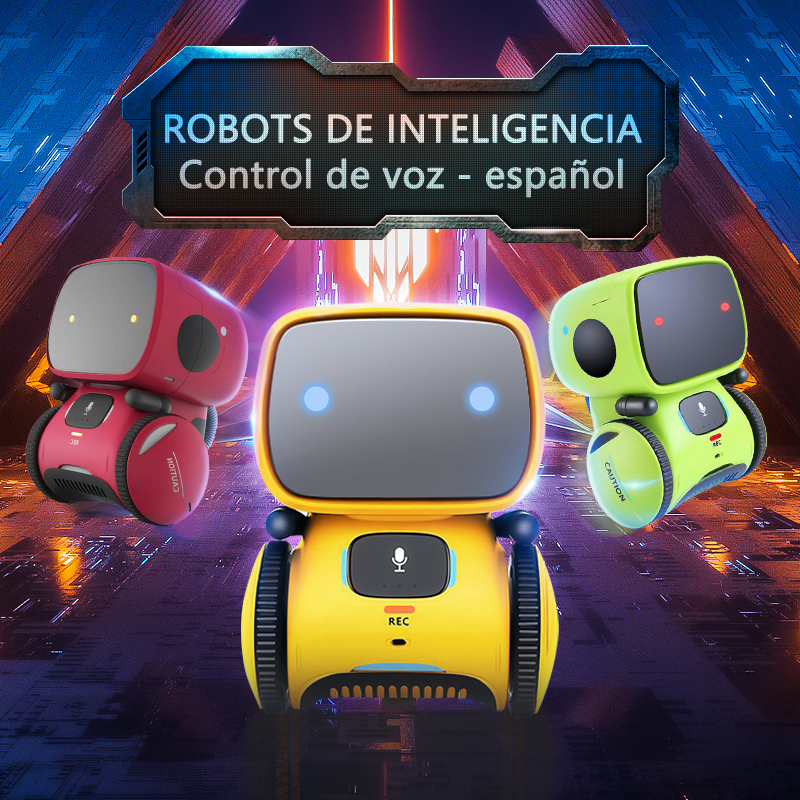 New Spanish Robot Toy for Kids Dance Voice Command Touch Control Toys Interactive Robot Cute Toy Smart Robotic for kids Gifts