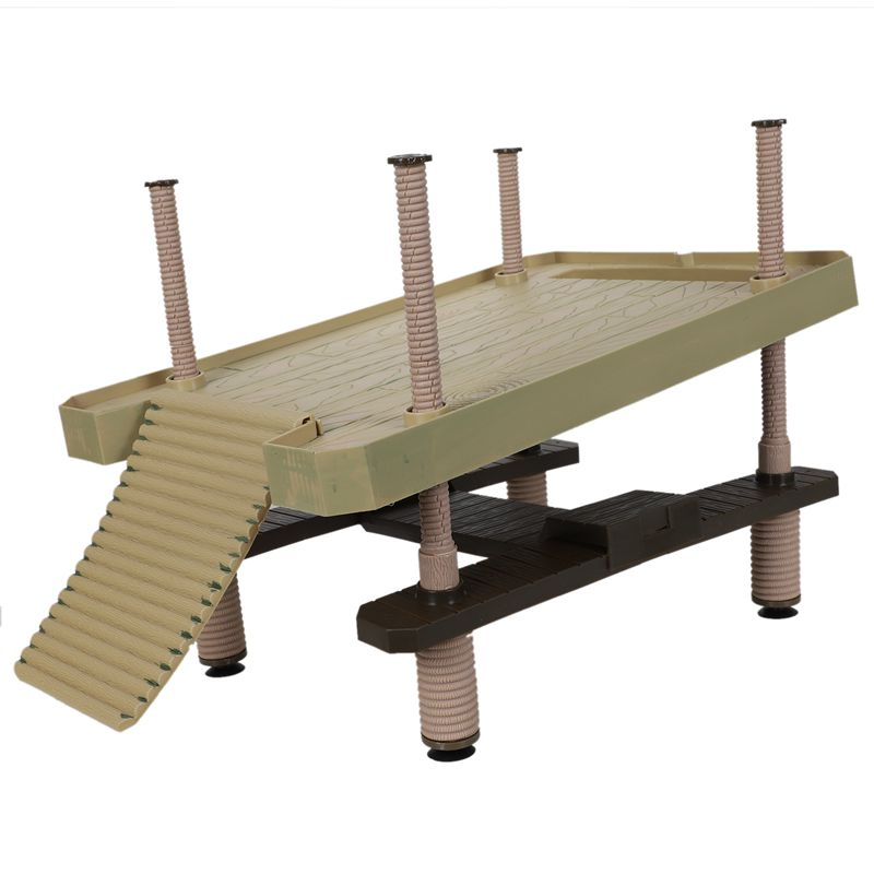 BMBY-Reptile Large Turtle Square Pier Platform With Ramp Ladder Basking Floating Plastic Durable High Quality