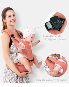 Image 4 - Слинг переноска AIEBAO Эргономичный для детей 0 36 месяцев, слинг, положение лицом и спиной, кенгуру, Хипсит для новорожденных
