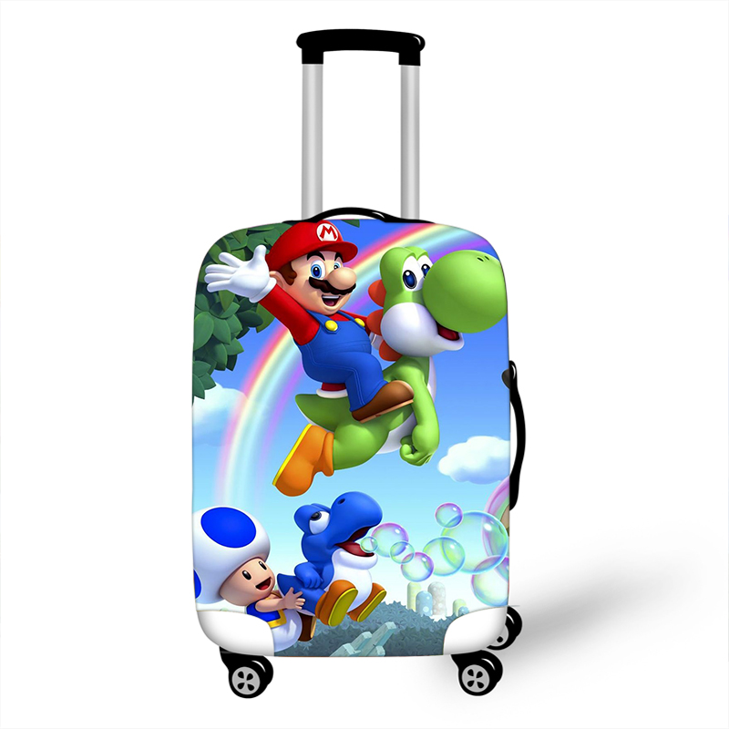 18-32 Inch Mario Bros Travel Suitcase Cover Elastic Luggage Protective Cover Anti-dust Trolley Case Travel Accessory