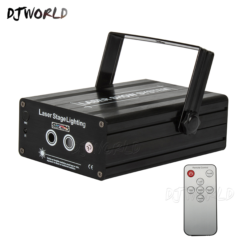 Djworld Wireless Remote Control Snowflake Four Eyes Red Green Blue Sector Scan Gobo Laser Good For DJ Disco Parties Dance Club
