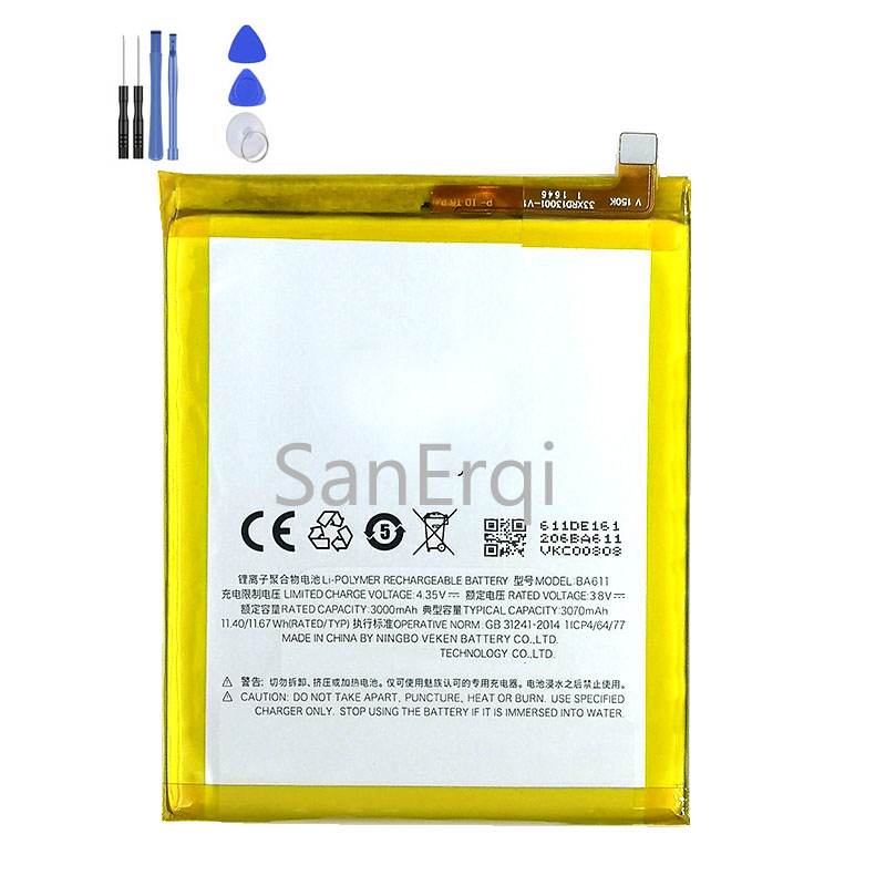 <font><b>BA621</b></font> BA721 BA611 BA612 Battery for Meilan Note5 Note6 <font><b>Meizu</b></font> M5 5S M5S High Quality with Tools Gifts image