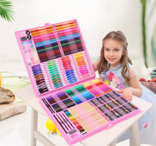 288pcs Art Set Children Painting Drawing Tools Water Color Pen Crayons Oil Pastel For Kids Gifts Box Art Supplies Stationery