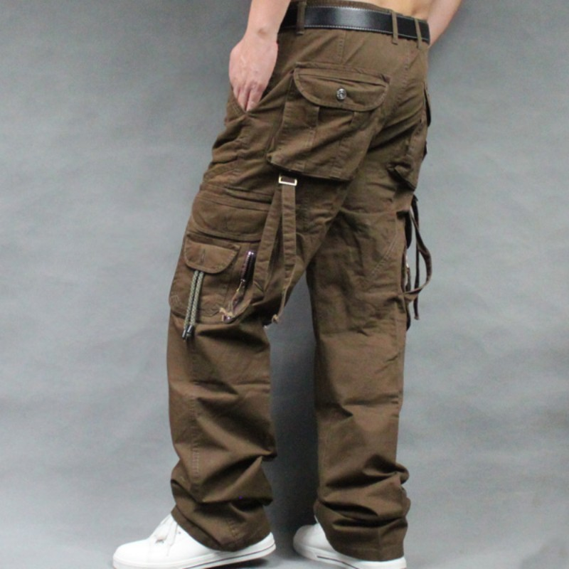2020 Top Brand Mens Military Cargo Pants Multi-Pockets Baggy Men Pants Casual Trousers Big Size High Quality Army Overalls Male