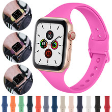 Strap Voor Apple Horloge band 38mm 42mm Sport Siliconen iWatch 4 band 44mm 40mm riem Armband correa Apple horloge 5 4 3 2 Accessoires(China)