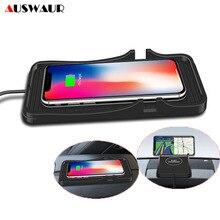 10W QI Kablosuz araba şarjı Standı Tutucu Cradle Dock iPhone X XR XS 11 Pro Max Kablosuz Şarj araba pedi