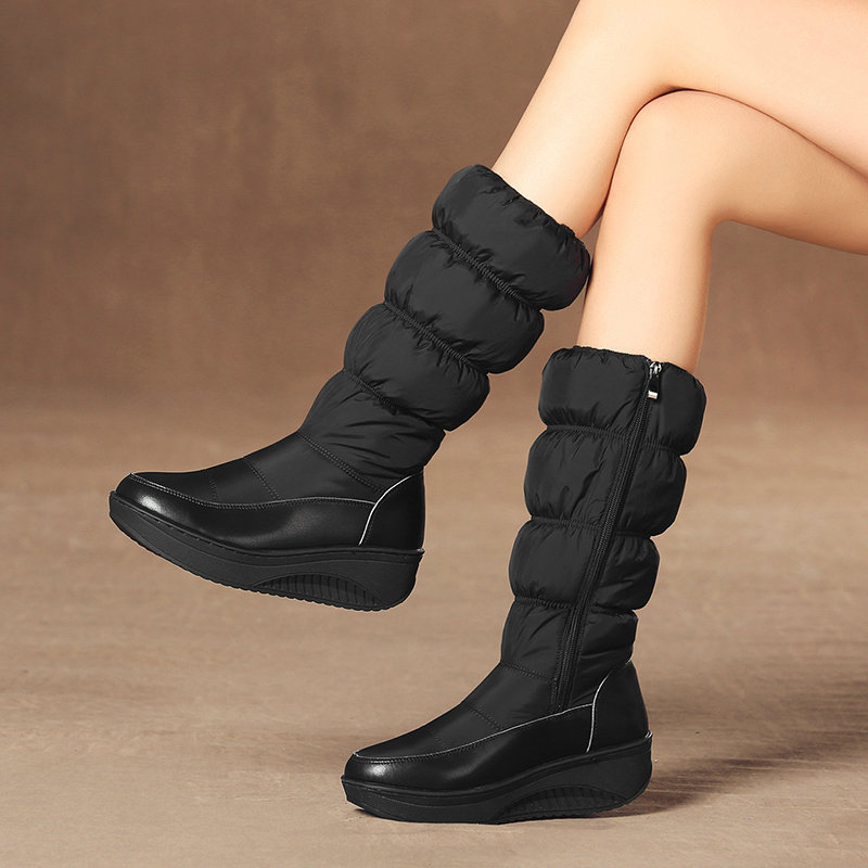 Winter Boots for Women Shoes Sneakers Rain Snow Boots Anti-Slip Fleece Lined Waterproof K-BEST image