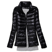 Autumn Jacket Women Winter Black Spring Duck Fur  Down Coats Female Short Parkas Outwear Pink Orange 2XL 3XL
