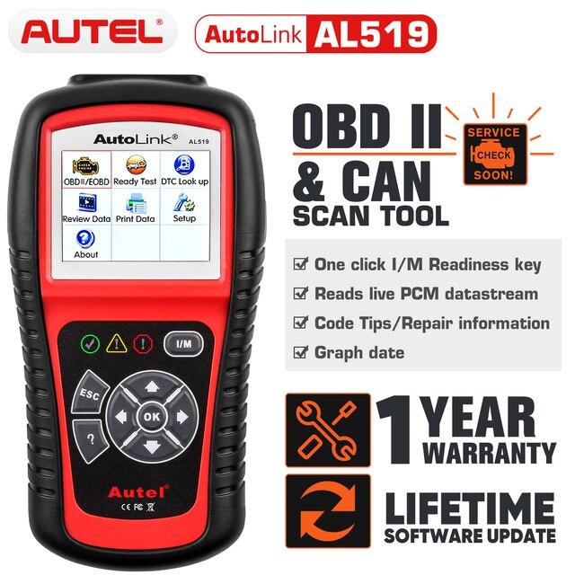 Autel AL519 OBD2 Auto herramienta de diagnóstico del escáner OBD 2 escáner de diagnóstico de coche Eobd Automotivo Automotriz automóvil coche herramienta de escaneo