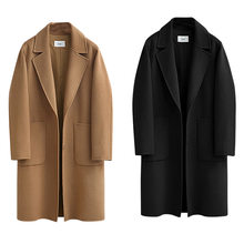 Женская Повседневная однотонная однобортная верхняя одежда, модное офисное пальто с поясом, Элегантный дизайнерский длинный Тренч