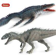 Oenux – figurines originales du jurassique sauvage, Indominus Rex, Mosasaurus, tyrannosaure, dinosaure, jouet pour enfant, modèle animaux