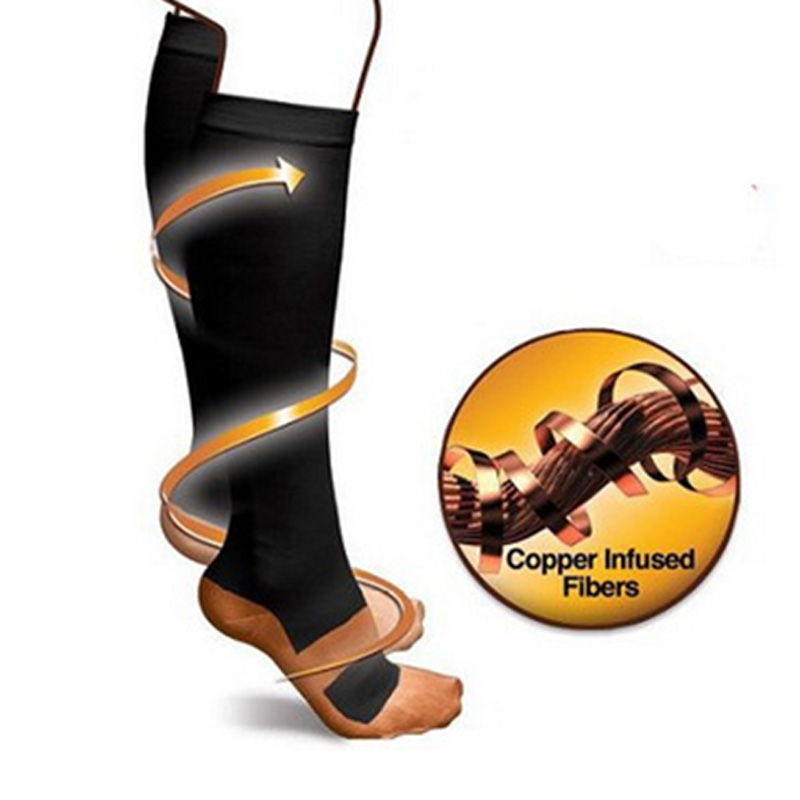 Image 3 - Anti Fatigue Compression Socks Great for travel Varicose veins Women and Men's Miracle copper socks Leg Massager-in Massage & Relaxation from Beauty & Health