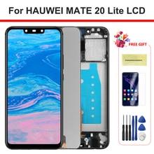 100% Test ekran Mate 20 Lite çerçeve ile LCD ekran dokunmatik ekran Digitizer için Huawei Mate20 Lite SNE LX1 LX2 LX3 ekran