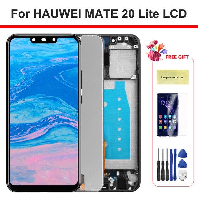 100% teste de exibição mate 20 lite lcd com quadro display toque digitador da tela para huawei mate20 lite sne lx1 lx2 lx3 tela