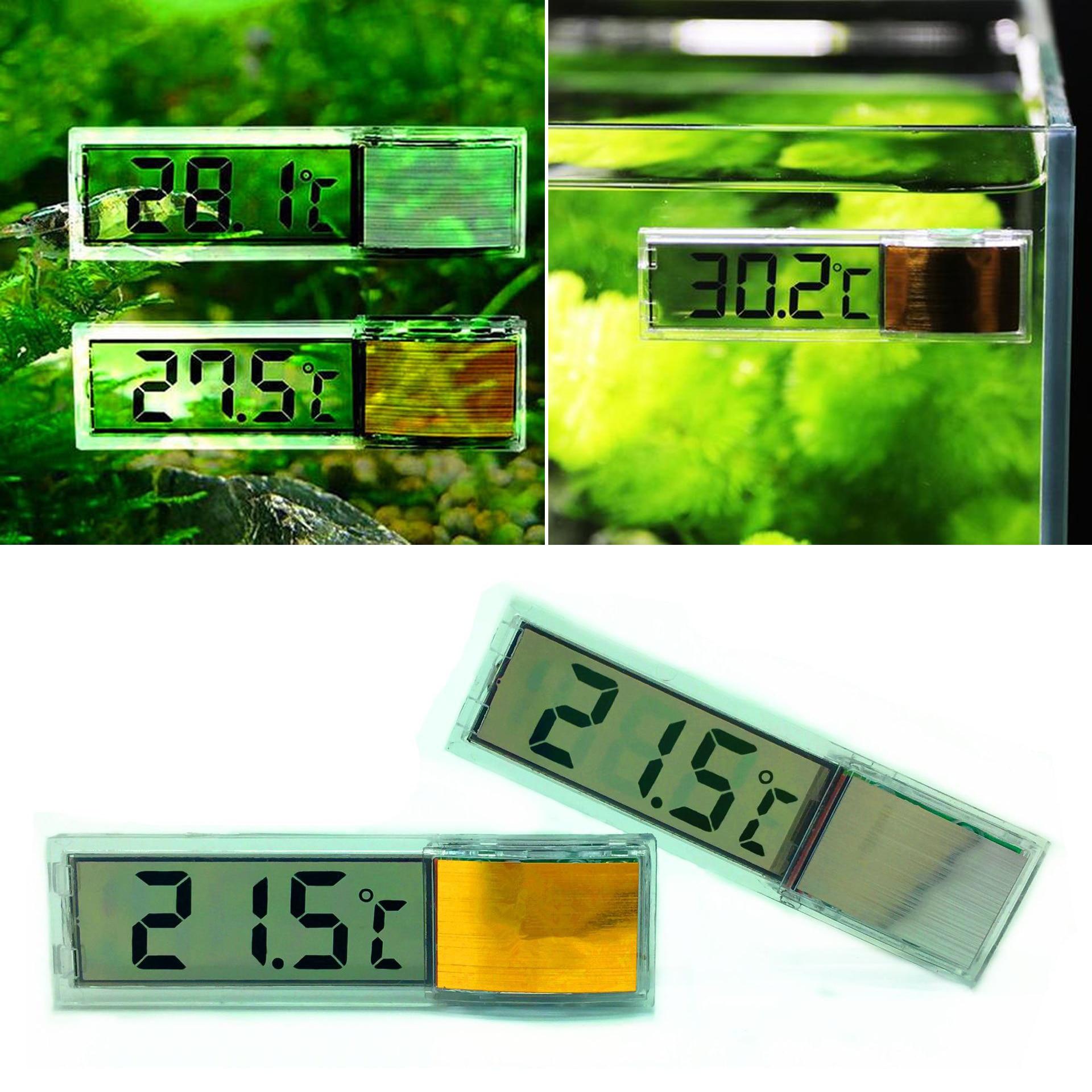 Aquarium Thermometer New Multi-Functional LCD 3D Digital Electronic Temperature Measurement Fish Tank Temp Meter