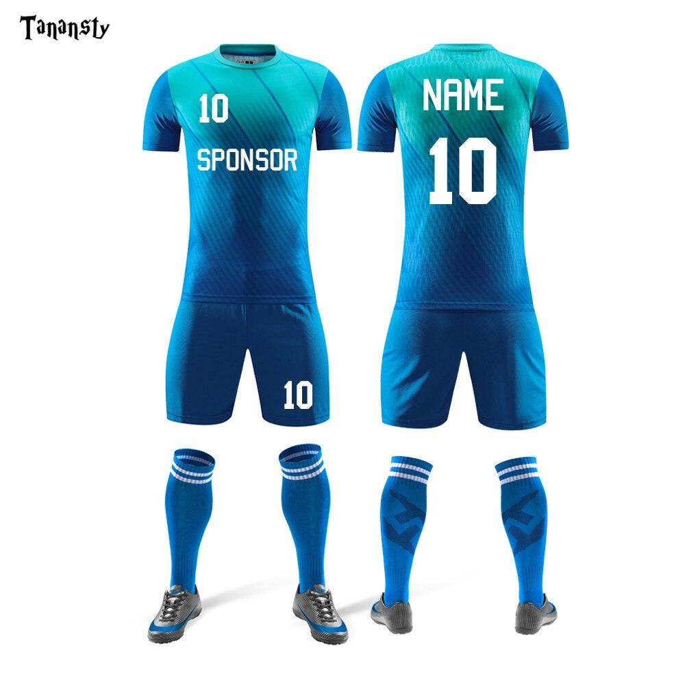 New Adult Soccer Jerseys Mens Sportswear Training Uniform Football Jersey Suits Team Uniforms Sets Shirts And Shorts Kits19 Hot