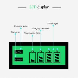 Image 3 - Carregador de pilhas inteligente, tela LCD, 4 espaços, para pilhas recarregáveis AA/AAA, NiCd NiMh, tomada UE #8175, de qualidade, imperdível