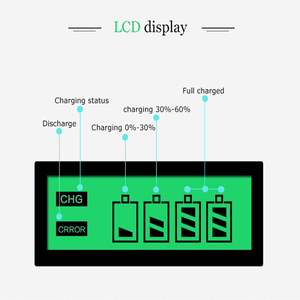 Image 3 - Hot quality 4 Slots LCD Display Smart Intelligent Battery Charger for AA / AAA NiCd NiMh Rechargeable Batteries EU Plug#8175