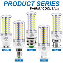 Ampoule épis de maïs E27, lampe à bougie E14, g9 3W 5W 7W 9W 12W 15W 18W 20W 25W, 220V, 5730 V, 240