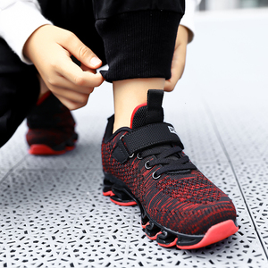 Image 4 - Big Children Running Shoes Boys Sneakers Spring Autumn Breathable Shoes Kids Sport Shoes Light Outdoor Hollow Sole Tenis Shoes