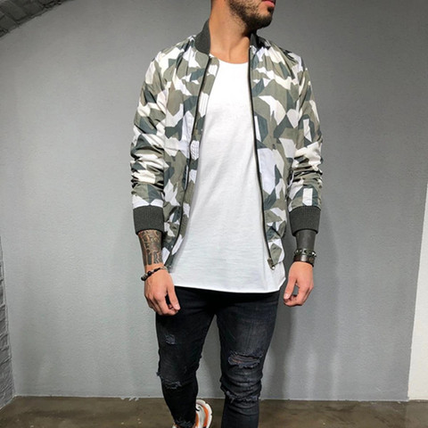 2019 New style Men Camouflage sport jacket Gyms Fitness Bodybuilding zipper coat Autumn casual fashion joker tide brand clothing Islamabad