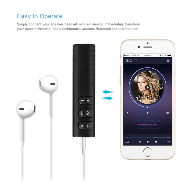 3.5mm Jack Wireless Bluetooth Receiver Bluetooth 5.0 Adapter Wireless Aux Receiver Adapter For Headphone PC Music MP3 Speaker