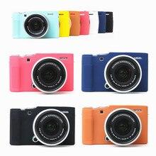 حافظة جلدية مدرعة من السيليكون لحماية غطاء الجسم لكاميرا Fujifilm X A7 XA7 فقط