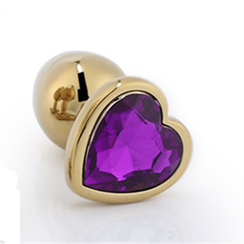 Large Luv Gold crystal Gem Anal-Butt Plug Romance Game Funny Toy Cosplay
