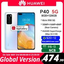В наличии глобальная версия Huawei P40 5G смартфон Kirin 990 8 ГБ 128 50MP Ультра версия камеры 6,1 дюймов SuperCharge NFC