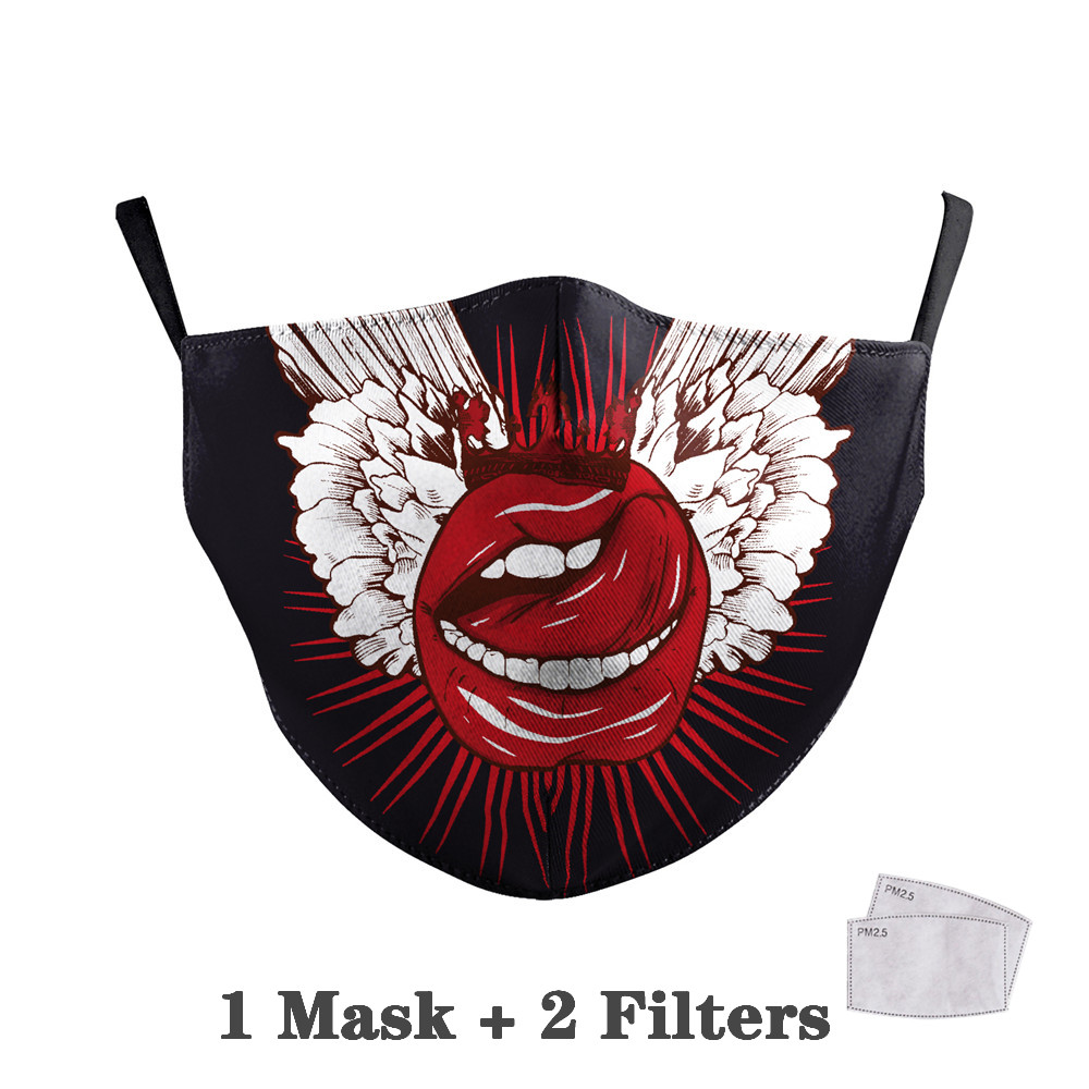 Washable Big Mouth Skull Face Masks 20