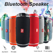 Nirkabel Bluetooth Speaker Mendukung USB/TF Card /FM Radio Audio Stereo Bass Portable Outdoor Telepon Tooth Biru Caixa de Som 19Oct(China)