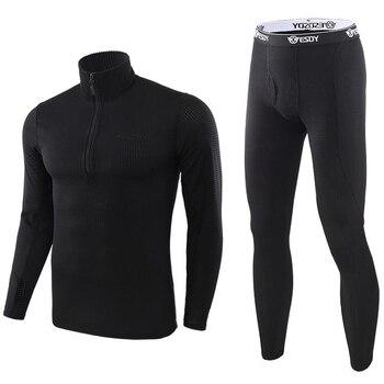 Men Winter Thermal Underwear Mens Fleece Sweat Thermo Underwear Men Tight Fitness Camouflage Tracksuit/Riding pants underwear