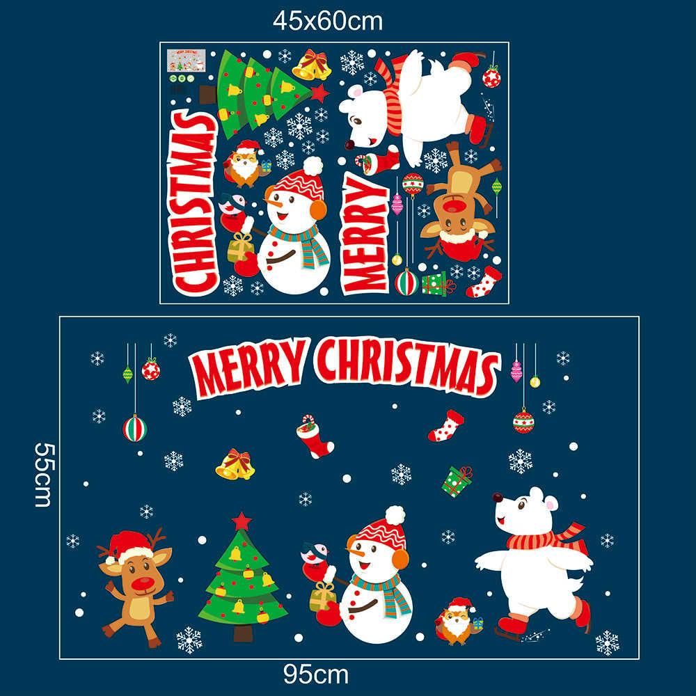 2020สติกเกอร์รูปลอกDIY Christmas Shopping Mallหน้าต่างสติ๊กเกอร์ติดผนังสติ๊กเกอร์ติดผนังWall Decalsในครัวเรือน